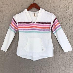 Billabong Girls Striped Knit Hoodie Sweatshirt